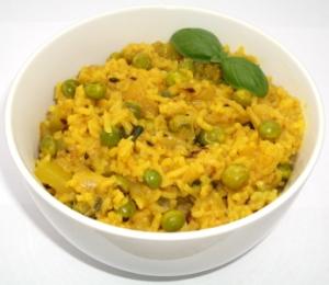 Peas Zucchini Rice